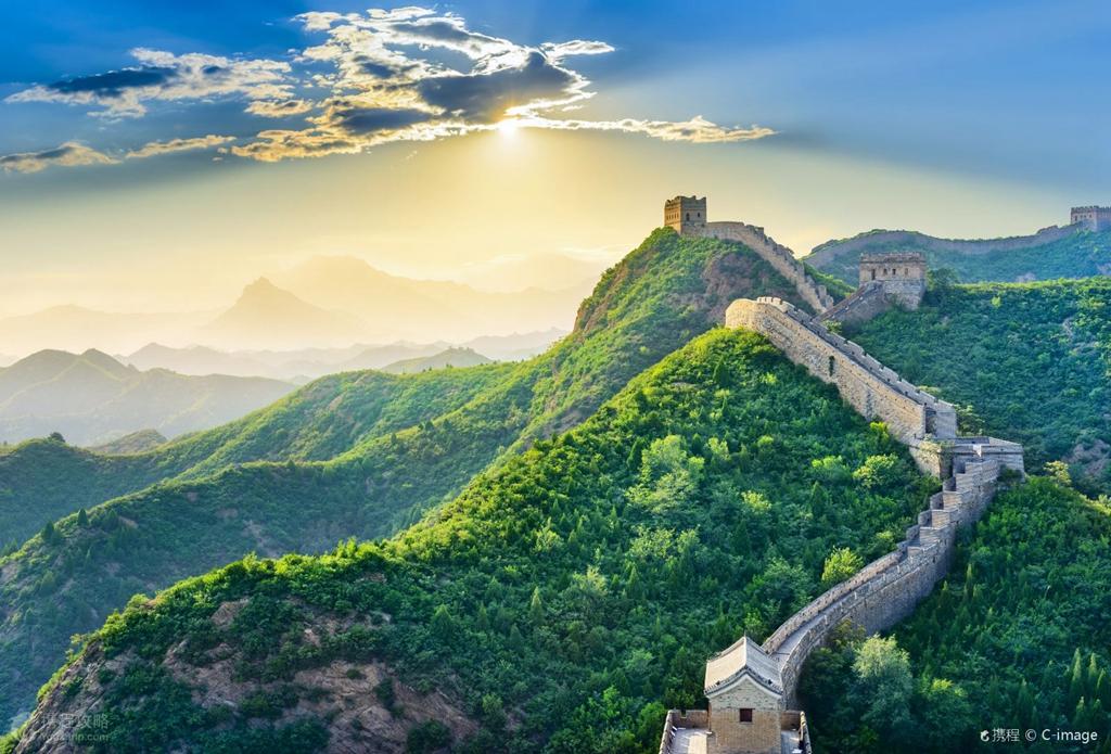 北京八達嶺長城+定陵(含地宮)鳥巢水立方外景純玩一日游